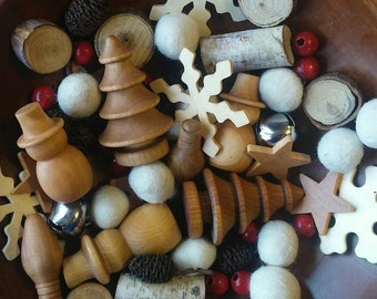 Holiday Sensory Bin Mix, Waldorf, Reggio, Montessori
