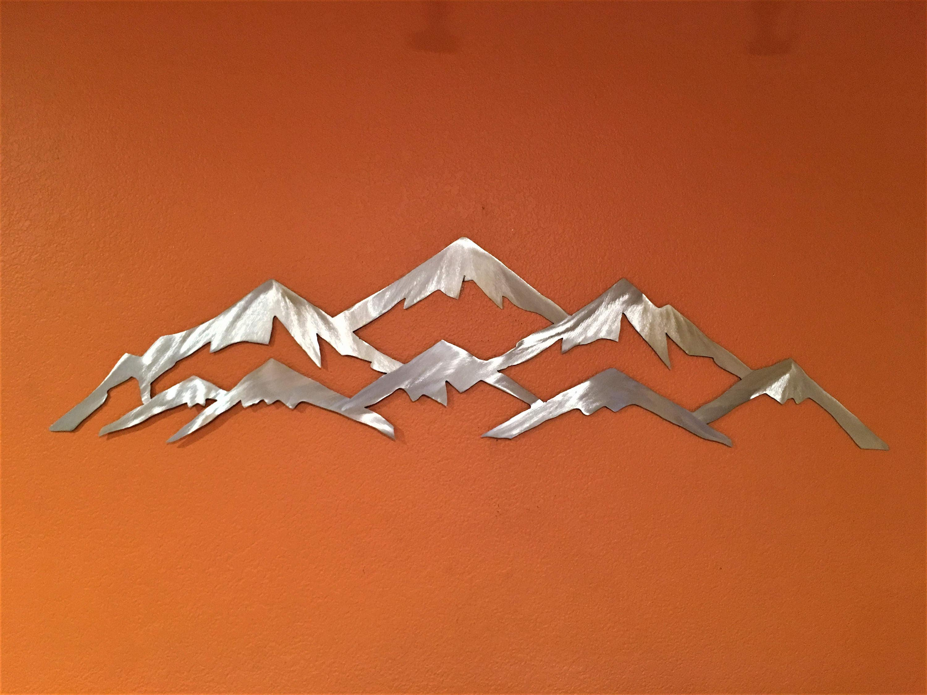 3 ft vail ski resort metal wall art mountains nature landscape mountain range nature lover - Wall arts images ...