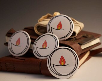 UU Buttons!  Unitarian Universalist Chalice Symbol on a Button.  Great for Membership Perks and Annual Giving Reminders.