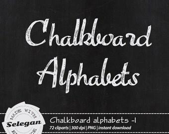 "Alphabet Clip Art "" Chalkboard Alphabets -1 "" Alphabet, Letters, Font, Alphabet Letters, Cursive Font, Alphabet Clip Art, hand drawn letters"