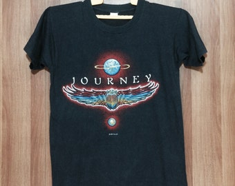 80s - 1980 World Tour JOURNEY Band T-shirt Adult Medium Size
