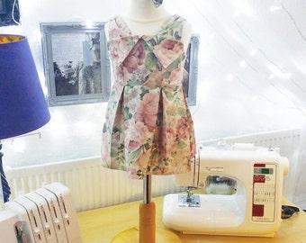 Vintage Sailor Pinafore Pleated Dress