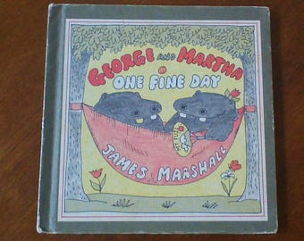George and Martha One Fine Day Vintage Hardcover Children's Book By James Marshall Children's Book Clubs