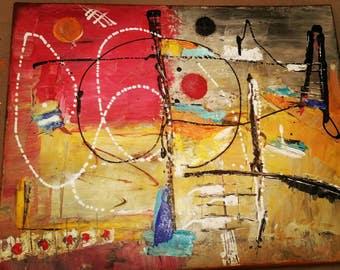 Kandinsky art colourful abstract style