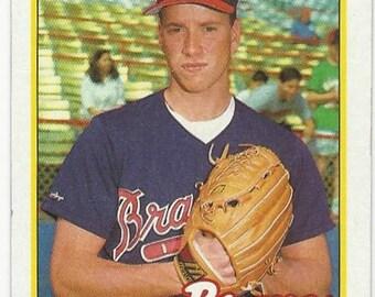 1989 TOM GLAVINE Atlanta BRAVES Hall of Fame pitcher original vintage 1989 Topps baseball card number 157