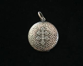 antique french lorraine cross locket