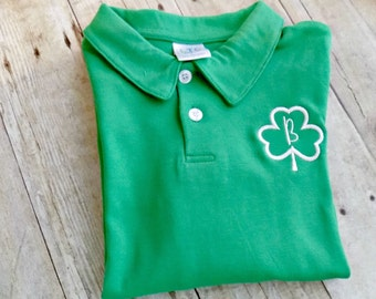 Boys St. Patricks Day Polo, Boys St. Patricks Day Shirt, Toddlers St. Patricks Day Polo shirt, Infants,Monogrammed,Personalized, Embroidered