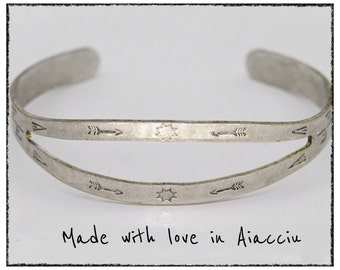Navajo silver plate ring