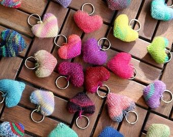 Stuffed hearts knitting pattern - Hearts for mobile, gifts and more - DIY Love decoration, pdf download, for beginners and advanced