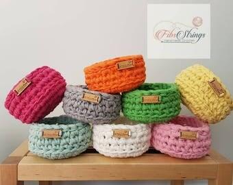Handmade Mini Crochet Bowl   Ring Bowl   Coin Bowl   Beauty Storage