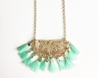 ALMA NECKLACE - turquoise blue