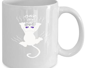 Cats white coffee mug. Funny Cats gift