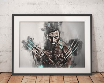Wolverine Xmen Superhero Wolverine Art Wolverine Poster Print X-men Illuatration Art