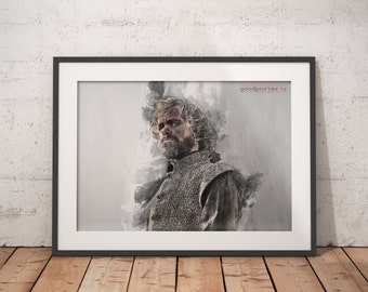 Tyrion Lannister poster Peter Dinklage print game of thrones print Wall art Home Decor