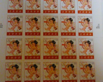 1999 Baby New Year 2000 Booklet/Pane Mint/MNH 20 33 Cent US Postage Stamps
