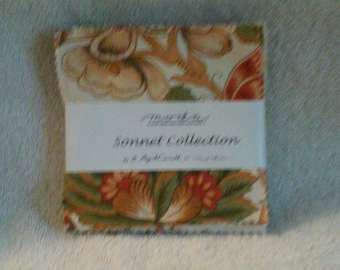 Moda Sonnet Collection Charm Pack by April Cornell, VHTF, OOP, Free Shipping