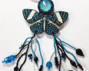 Blue Butterfly Necklace