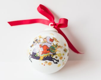Sale! Christmas tree ball by Rozenthal/ designed christmas tree ornament/ vintage tree ornaments/ collectible christmas ball