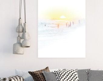 Beach Art, Sunset, Beach Photography, Beach Print, Sunset Photography, Orange County Beach, Wall Art, Aluminum Hanging