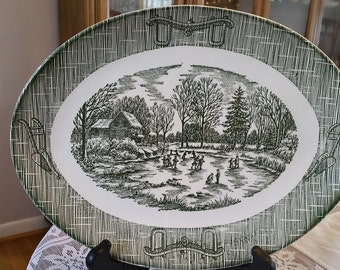 Currier Ives Dishes Etsy