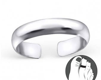 925 Sterling Silver Toe Ring plain and basic