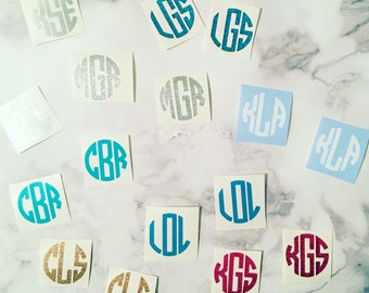 DECAL ONLY - Free Shipping Pop Socket Monogram Decal, Monogram for a PopSocket, Glitter PopSocket Decal