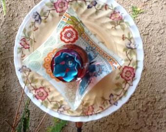 Glass flower //Glass plate flower//