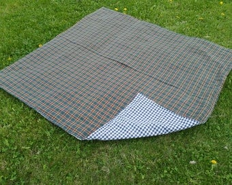 Reversible picnic blanket, 45x45 inches, tablecloth, picnic themed birthday party, picnics, picnic lunch, lightweight, easy to transport,RTS