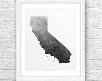 California Map, California Print, California Art, California State, Minimal Design, Minimalist Art, California Printable,Instant Download