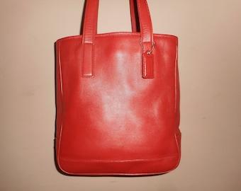 "VINTAGE COACH 10"" x 11"" RedTote Bag  #D13-7776 W/Hang Tag"
