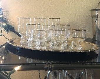 Set of 9 Vintage Drink Glasses