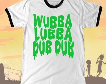 "Rick and Morty ""Wubba Lubba Dub Dub"" Ringer T-shirt"