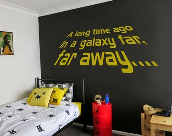 A Long Time Ago Wall Sticker Decal Art Star Wars Inspired