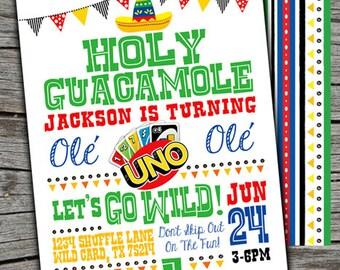 UNO Invitation/ UNO Invite/ UNO Birthday Party / First Birthday Printable/ Uno Theme Birthday Party Invitation/ Uno Digital