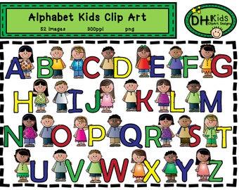 Alphabet Kids Clip Art - Kids Art - Digital Clipart - Instant Download