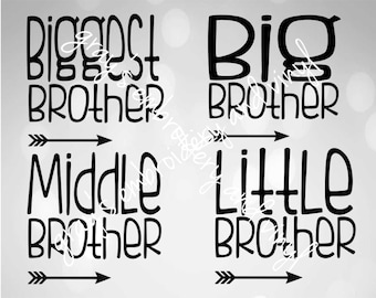 biggest brother, big brother, middle brother, little brother DXF