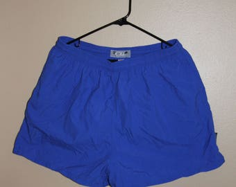 Vintage Blue Swim Trunks Club Brand 80's 90's