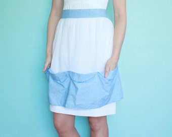 Fifties Gingham and Chiffon Apron
