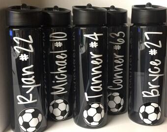 Soccer water bottles