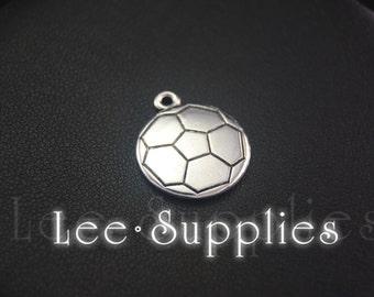 30pcs Antique Silver Soccer Basketball Charms Pendant A2038