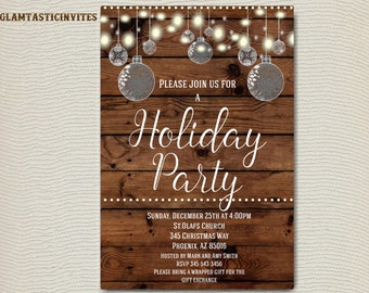 Christmas Party Invitation - Christmas Invitation - Holiday Party Invitation - Christmas Printable - Holiday Printable - Chalkboard Invite