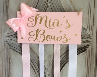 bow holder hair bow holder hair bow organiser hair accessories girls bow holder girls bow organiser kids name sign girls room