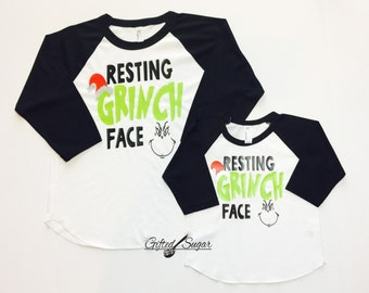"""Shop """"resting grinch face"""" in Girls' Clothing"""