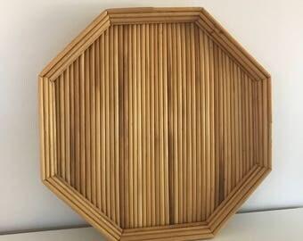 vintage tray | vintage tray, boho decor, straw trays, woven tray, basket, woven server, straw platter, vintage tray, straw
