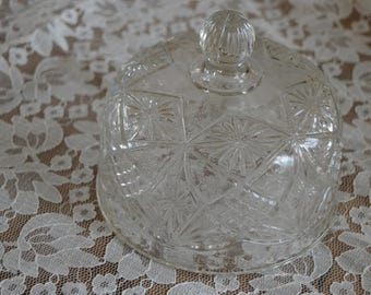 Beautiful French Vintage Glass Cake Dome, Cake Stand, Home and Living, Kitchen, Dining, Serving, Cakes, Style