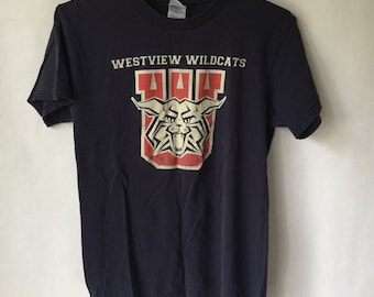Vintage Westview Wildcats Shirt - Purple - Size Small - Extra Small
