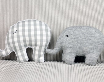 Grey mini stuffed elephant toy / elephant gifts / elephant nursery / soft toys / cuddly toy / stuffed animals / stuffed toys / baby gift