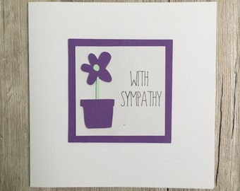 Handmade sympathy card // With sympathy // Thinking of you