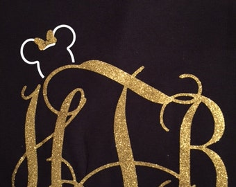 Monogram with Small Minnie Head