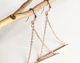 """""""lora"""" triangle earrings"""
